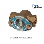 Bronze Plain FNPT  Threaded Ends Sight Flow Indicator