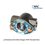 Stainless Steel Sight Flow Indicator w/ double window Delrin Flapper,FNPT