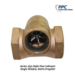 Bronze Sight Flow Indicator w/ Single Window, Delrin Propeller, FNPT
